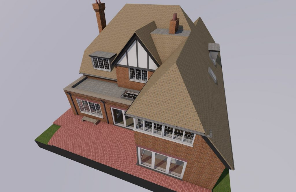 37 The Gateway 3D Showing Roofs