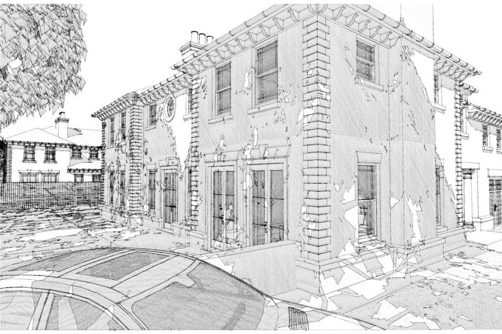 Plot 1 Sketch View From East